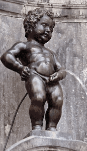 The Manneken-Pis or La Fontaine du Petit Julien, Bruxelles, Belgium